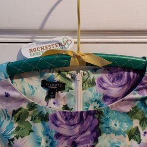 Talbots Rose Garden Tea Dress w/Pockets & Belt